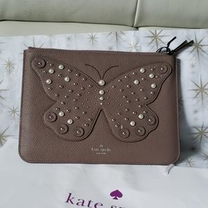 Nwt Kate Spade Butterfly Clutch